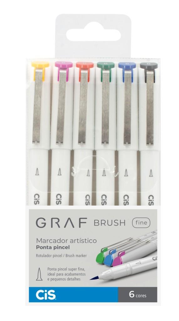 Graf Brush Fine Pen 6 Cores CIS