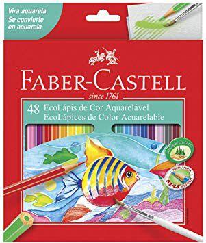 Lápis de Cor Aquarelável 48 cores Faber-Castell