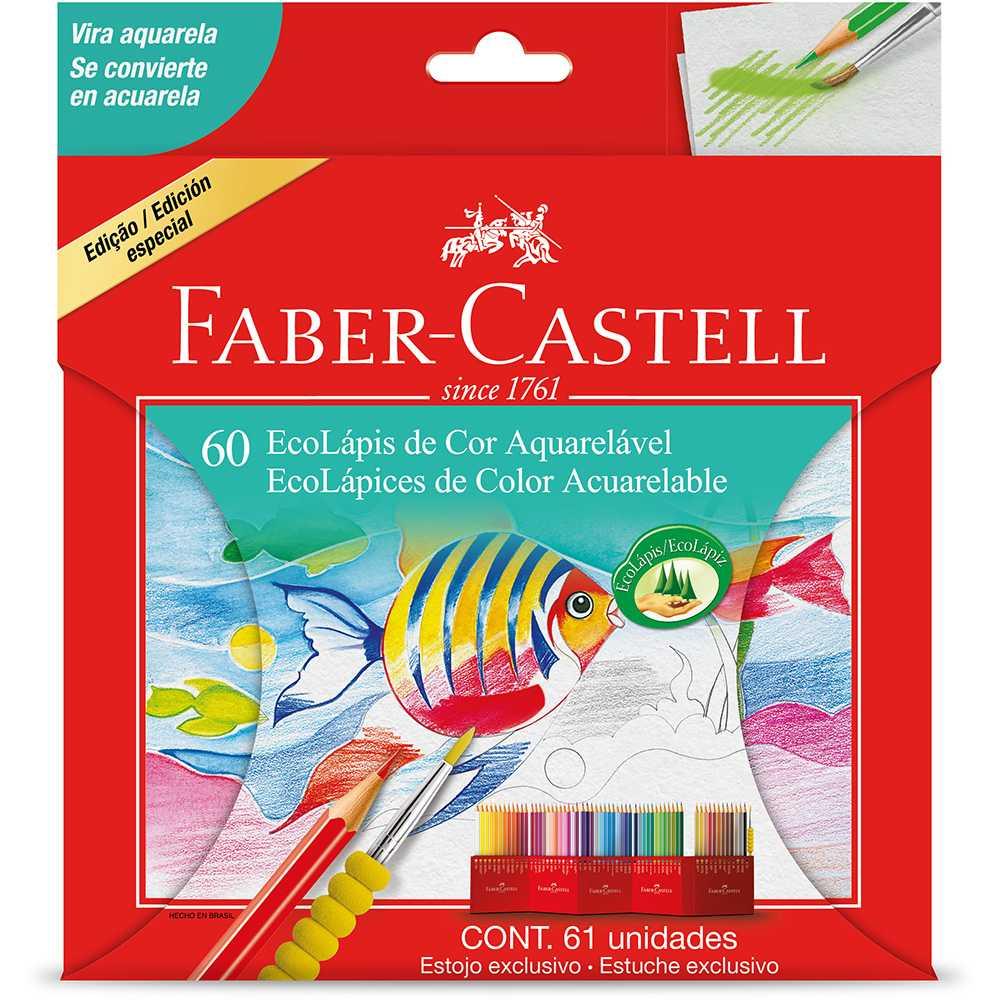 Lápis de Cor Aquarelável 60 cores