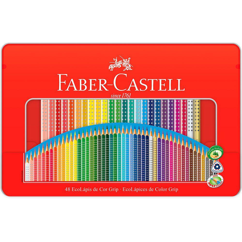 Lápis de cor Grip 48 cores Faber-Castell