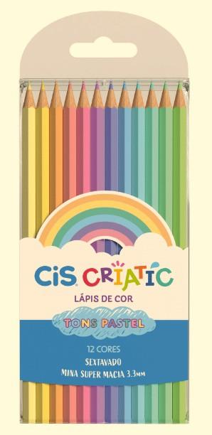 Lápis de Cor Pastel 12 Cores CIS