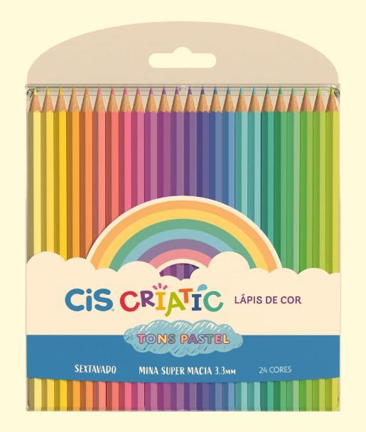 Lápis de Cor Pastel 24 Cores CIS