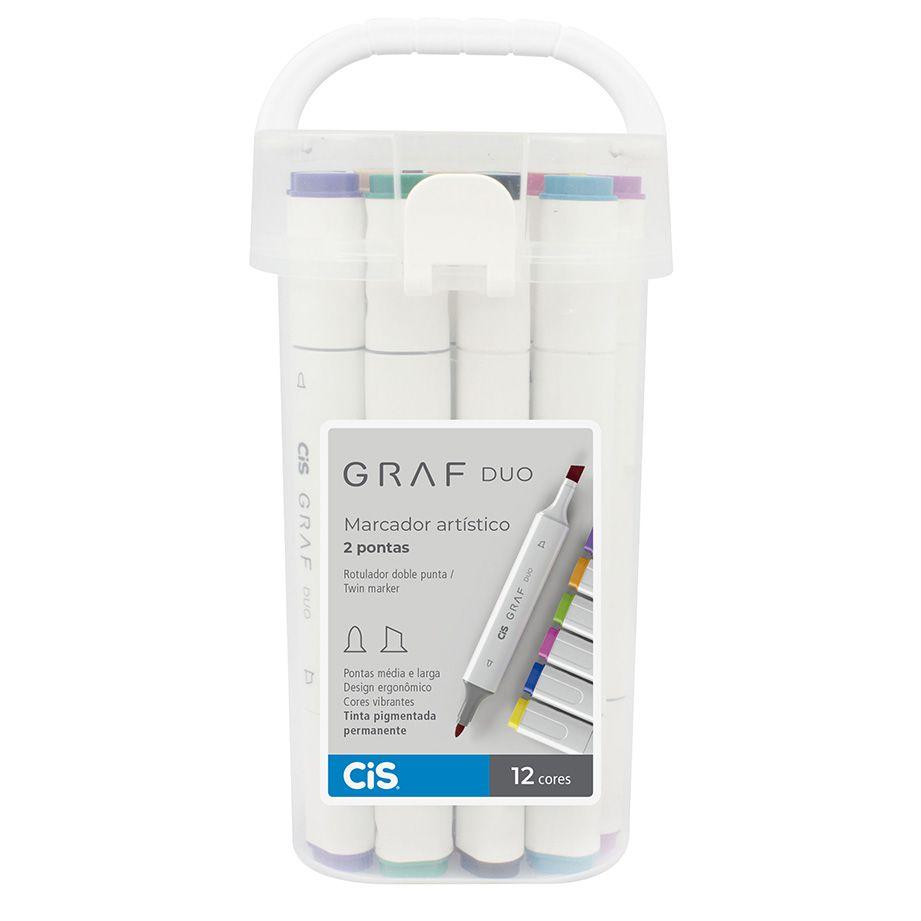 Marcador Artístico Graf Duo 12 cores CIS
