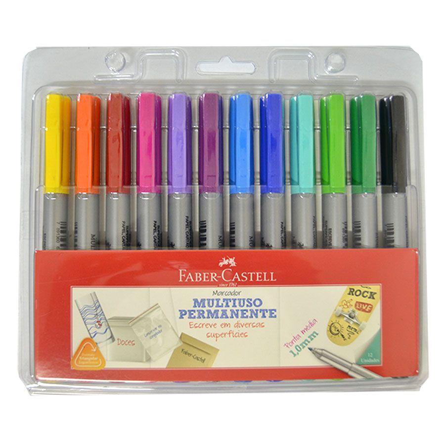 Marcador Permanente 12 cores