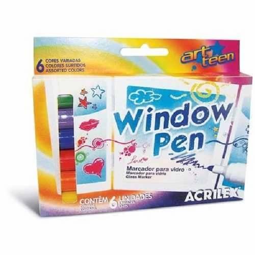 Marcador Window Pen 6 cores