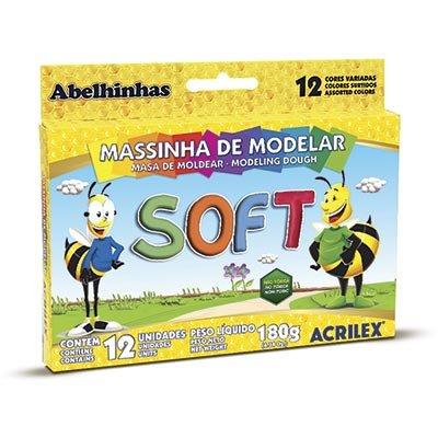 MASSA MODELAR 12 SOFT CORES 180 G ACRILEX