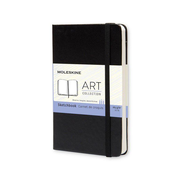 Caderneta Moleskine Art Plus Sketch Preto 9x14