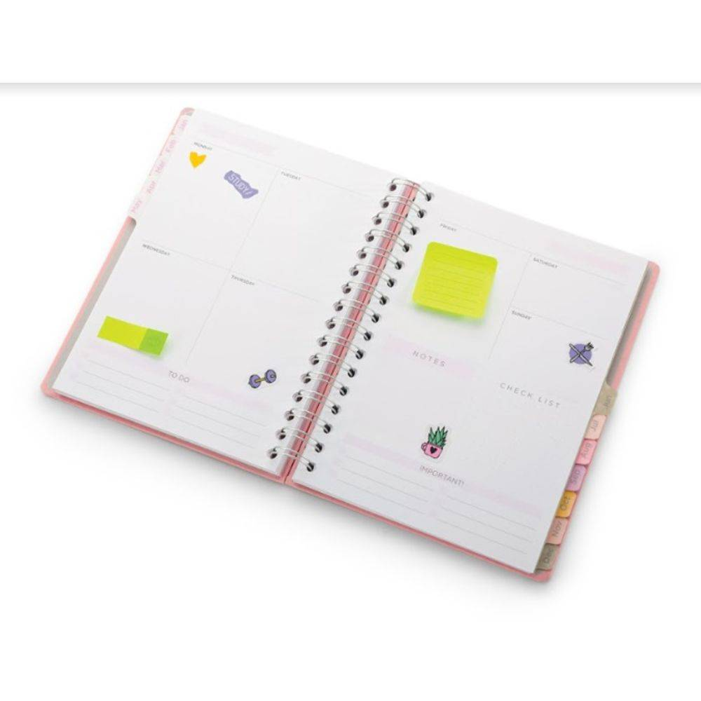 Planner A5 Pink Stone Mármore