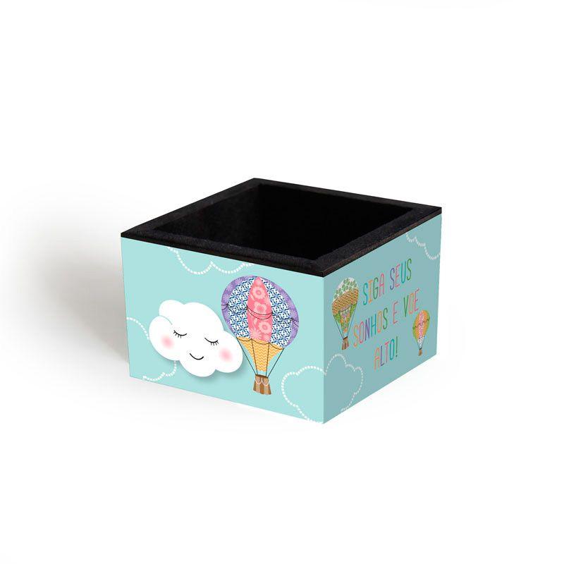 Porta-clips 'Nuvem e balão'
