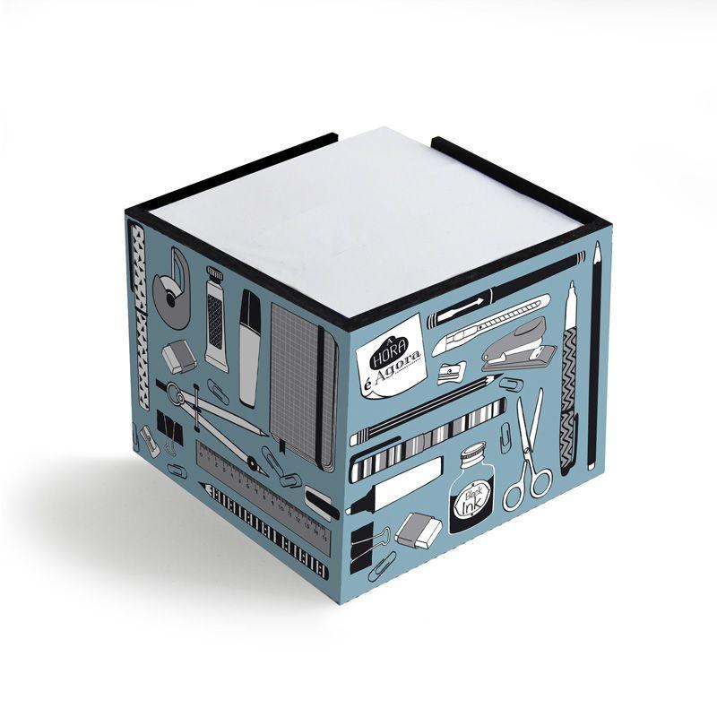 Porta-lembretes Office Azul