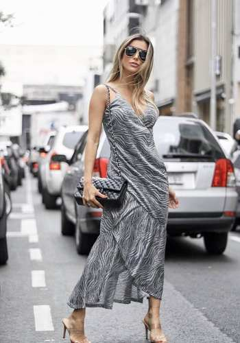Vestido Lurex Animal Print