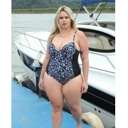 Maiô plus size estampado colors