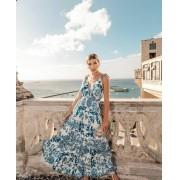 Vestido Santorini saia três Marias