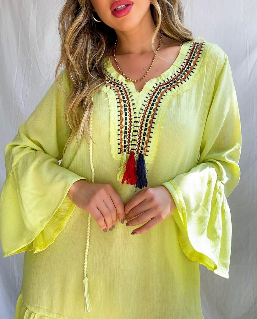 Vestido franjas hippie chic tassels