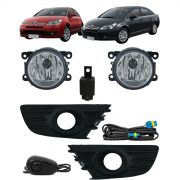 Kit Farol de Milha Neblina Citroen C4 Hatch 2008 2009 2010 2011 2012 e C4 Pallas 2008 2009 2010 2011 2012 - Interruptor Alternativo