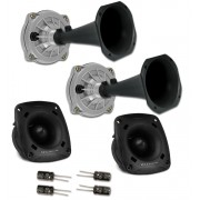 Kit Trio Selenium Com 2 Driver D250X  + 2 Super Tweeter St200 (400w Rms) +  2 Cornetas + 4 Capacitor