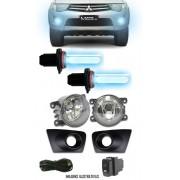 Kit Farol de Milha Neblina Mitsubishi L200 Triton 2011 2012 - Interruptor Modelo Original + Kit Xeno