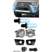 Kit Farol de Milha Neblina Mitsubishi L200 Triton HLS GLS GLX 2013 / 2014 / 2015  - Interruptor Mode