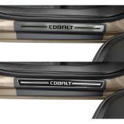 Jogo Soleira Premium Elegance Chevrolet Cobalt 2011 à 2019 - ( Vinil + Resinada 4 Peças )