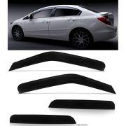 Calha de Chuva Honda New Civic 2012 2013 2014 2015 - 4 Portas - Original + Primer Aderente