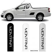 Jogo Friso Lateral Pintado Chevrolet Nova Montana 2011 2012 2013 2014 2015 - Cor Original