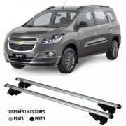 Rack Travessa Chevrolet Spin 2013 2014 2015 - Kiussi Belluno XL 130cm Alumínio Com Chave 50KG - Pret