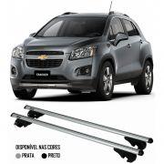 Rack Travessa Chevrolet Nova Tracker 2013 2014 2015 - Kiussi Alumínio Com Chave 50KG - Preto / Prata