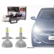Kit Lâmpada Super LED 3D Headlight H4 6000K 3600LM Efeito Xenon