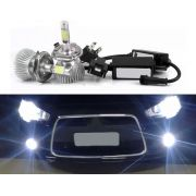 Kit Lâmpada Super LED Headlight H4 6000K 12V e 24V 32W 2200LM Efeito Xenon
