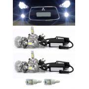 Kit Lâmpada Super LED Mitsubishi Lancer 2012 2013 2014 2015 2016 Farol Baixo HB4 + Farol Milha H11 + Lâmpada Pingo Total 6 Lâmpadas - Efeito Xenon