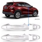 Aplique Maçaneta Dianteira Cromado Honda HRV 2 Peças