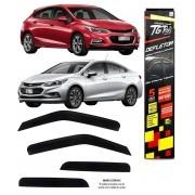 Calha Chuva Defletor TG Poli Chevrolet Cruze Hatch e Sedan 2017 2018 2019 2020 4 Portas