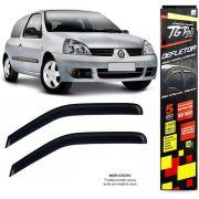 Calha Chuva Defletor TG Poli Renault Clio Hatch 2004 2005 2006 2007 2008 2009 2010 2011 2012 2013 2014 2015 - 2 Portas