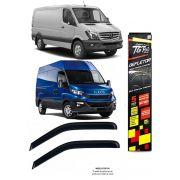 Calha Chuva Defletor TG Poli Renault Master 2002 à 2020 Iveco Daily 2008 à 2015 Sprinter Nova 2012 à 2018 - 2 Portas