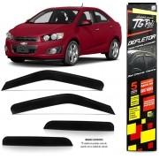 Calha de Chuva Chevrolet Sonic Sedan 2011 2012 2013 2014 2015 - 4 Portas - Original + Primer Aderent