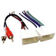 Chicote Plug Ligação + Conector RCA Hyundai HB20 IX35 Elantra 2012 Veloster e Sportage 2010 à 2013