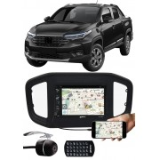 """DVD Player 2 Din Fiat Strada 2020 2021 6.2"""" Polegadas Espelhamento Bluetooth USB SD Card + Moldura Painel + Câmera de Ré"""