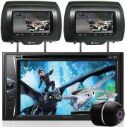 """DVD Player Automotivo 2 DIN Pioneer AVH-G218BT Tela 6,2"""" - Bluetooth Com Entrada USB + 2 Encosto de Cabeça AV + Câmera Ré Grátis"""