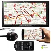 DVD Player Automotivo 2 Din Pioneer AVH-Z9280TV Tela 7 Polegadas TV Digital Espelhamento Android Bluetooth USB Conexão HDMI Entrada Auxiliar + Câmera Ré
