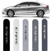 Jogo Friso Lateral Pintado Honda New Civic 2012 2013 2014 2015 2016 - Cor Original