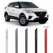 Jogo Friso Lateral Pintado Hyundai Creta Escrita Alto Revelo Cromado