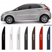 Jogo Friso Lateral Pintado Hyundai HB20 2012 2013 2014 2015 2016 2017 2018 2019 2020 - Cor Original - Facão