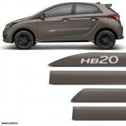 Jogo Friso Lateral Pintado Hyundai HB20 Hatch Bronze Terra