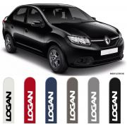 Jogo Friso Lateral Pintado Renault Logan 2013 2014 2015 2016 2017 2018 2019 - Cor Original
