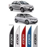 Jogo Friso Lateral Pintado Toyota Etios Hatch e Sedan 2012 2013 2014 2015 2016 2017 2018 2019 2020 - Cor Original