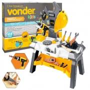 Kit Bancada de Ferramentas de Brinquedo Vonder 44 Peças