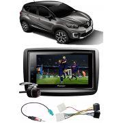 Kit Combo DVD Pioneer SPH-DA138TV + Moldura de Painel 2 Din + Chicote + Chicote Adaptador de Antena + Câmera de Ré Renault Captur