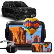 """Kit Combo Multimídia Hurricane HR 5009 Jeep Renegade PCD Tela 9"""" Polegadas Espelhamento Bluetooth USB + Câmera de Ré"""