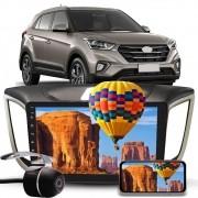 """Kit Combo Multimídia Hurricane HR 5010 Hyundai Creta PCD Tela 10"""" Polegadas Espelhamento Bluetooth USB + Câmera de Ré"""
