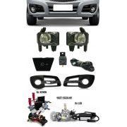 Kit Farol de Milha Neblina Chevrolet Nova Montana 2011 2012 2013 2014 2015 2016 + Kit Xenon 6000K 8000K ou Kit Lâmpada Super LED 6000K